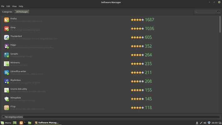 linux mint preinstalled applications