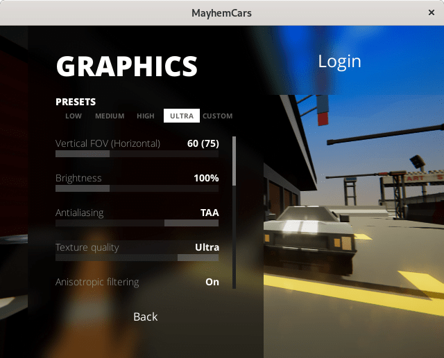 mayhem graphics settings