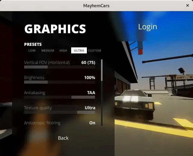 mayhem graphics settings