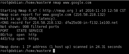 nmap scan host name