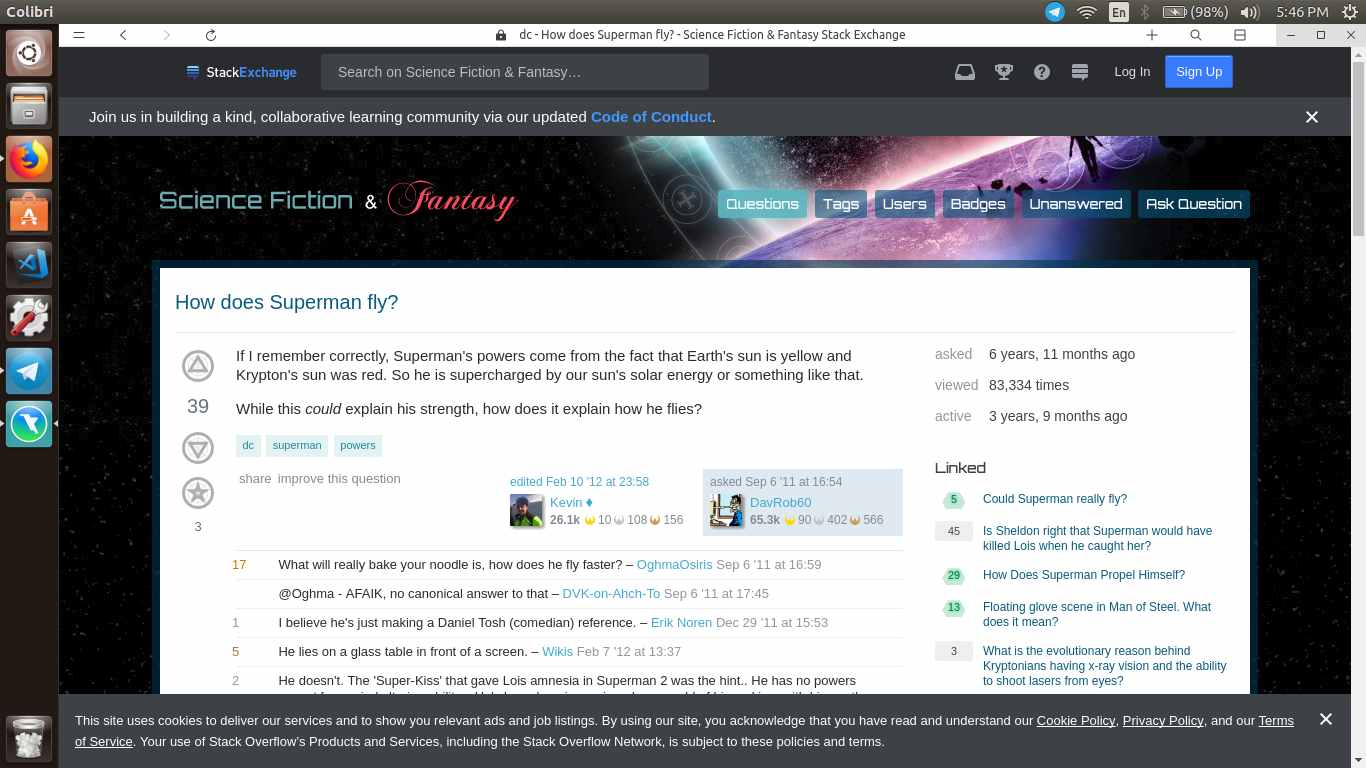 searching in colibri web browser