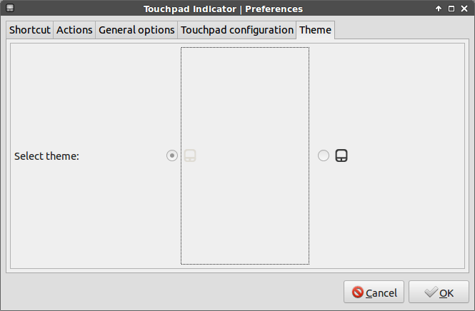 touchpad indicator theme option