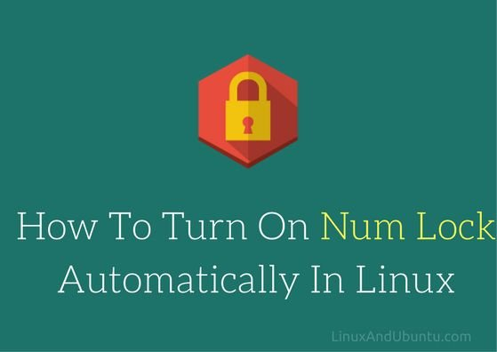 turn on num lock in linux