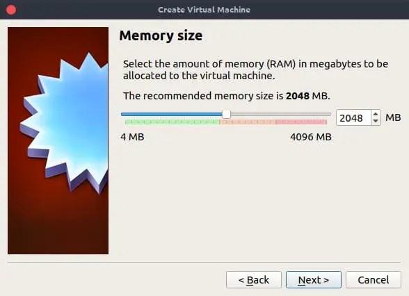 virtualbox type virtual ram memory