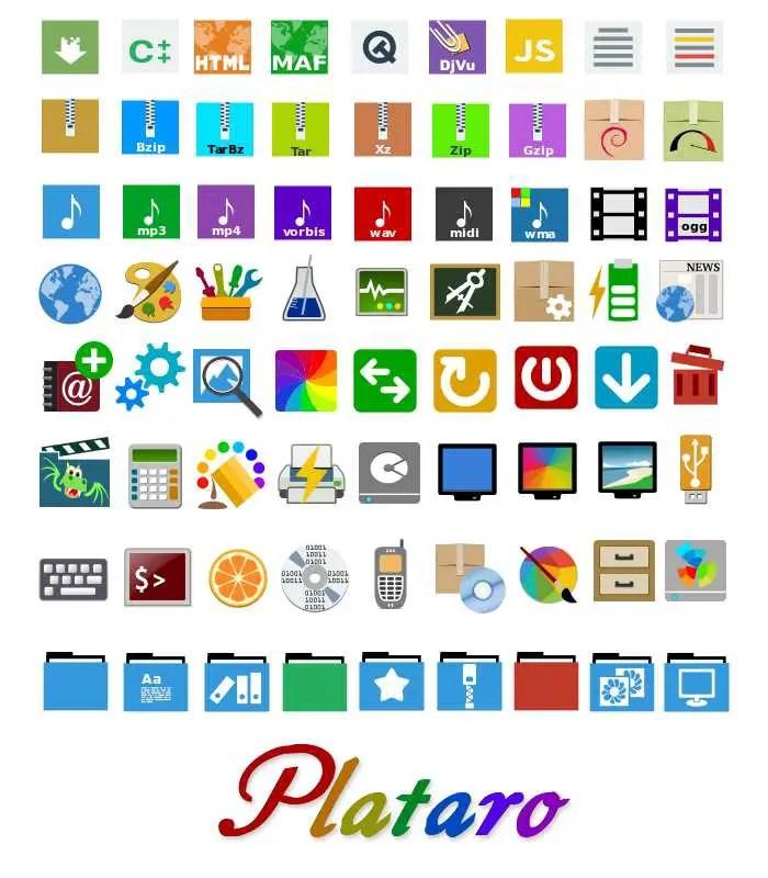 plataro master icon themes
