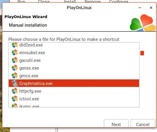 playonlinux install graphmatica