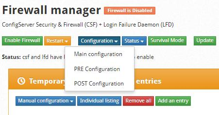 cwp firewall manager configurations