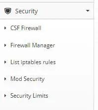 cwp firewall settings ssh port
