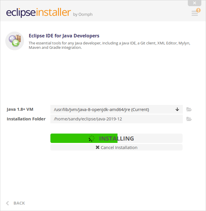Eclipse IDE installing