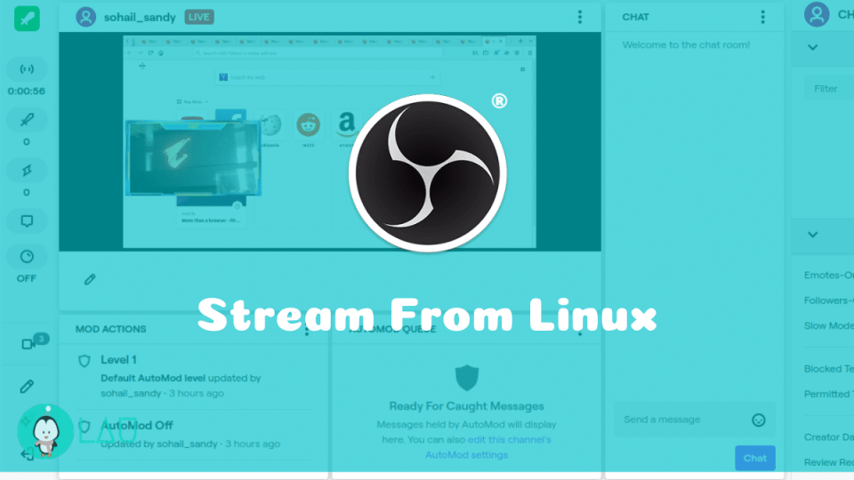OBS Studio stream from Linux