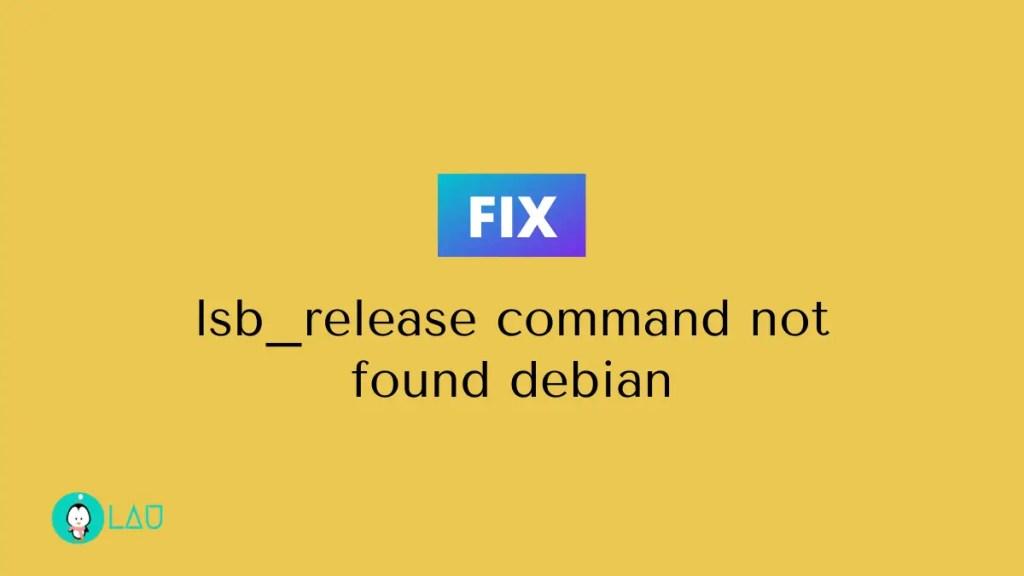 lsb release command not found debian