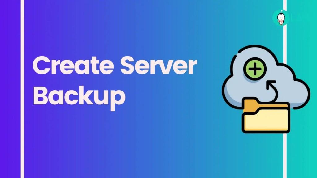 Create server backup