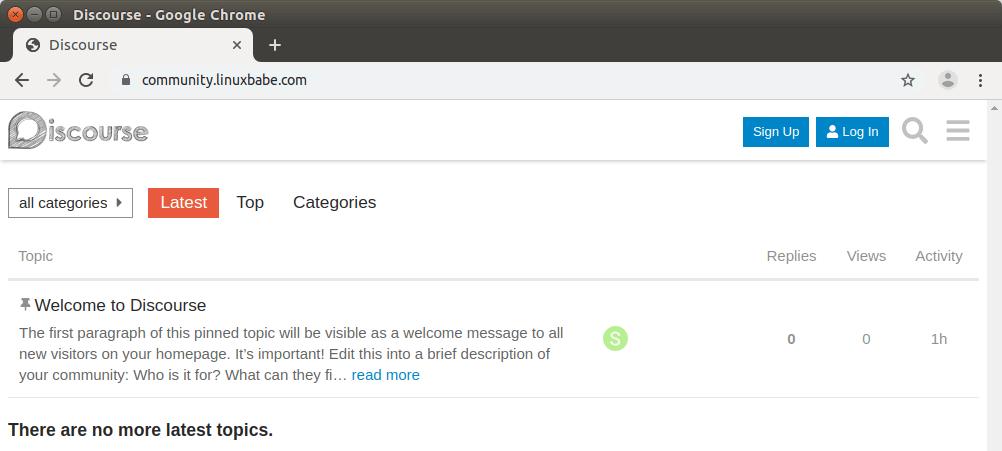 Install Discourse Forum on Ubuntu 18.04 Without Docker
