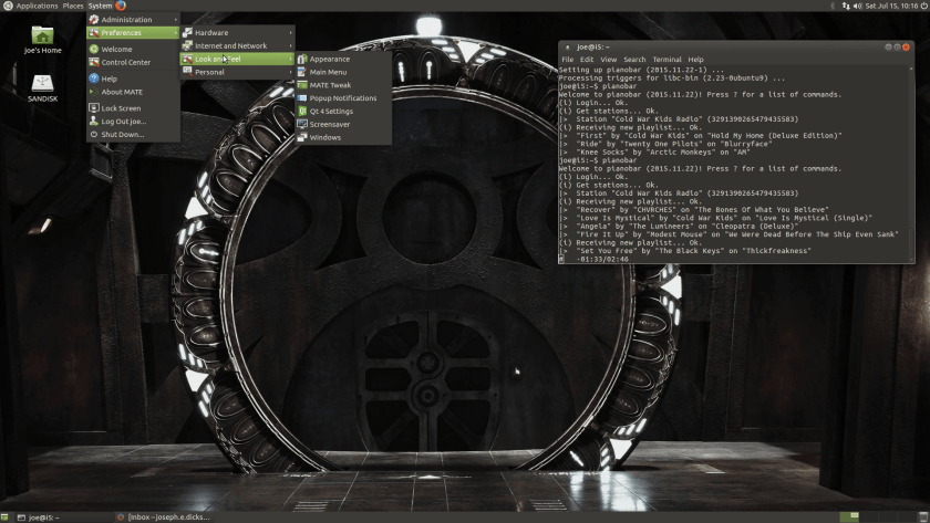 Stargate Universe Desktop on Ubuntu Mate 16.04