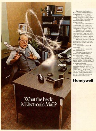 electronic mail Honeywell advertisement