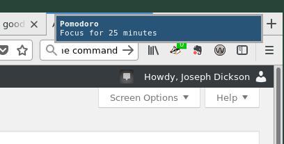 Pomodoro Start notification