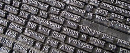 hot lead type blocks for publishing books