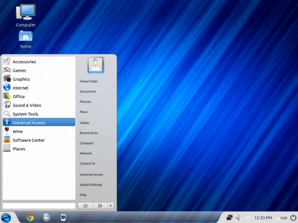 Zorin OS 6 Core Desktop Menu