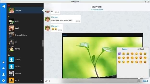 LinuxForum.hu Cutegram - jobb mint az eredeti Telegram Security desktop chat