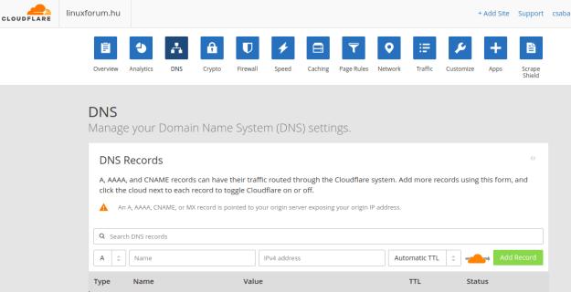 LinuxForum.hu Gyorsítsuk az oldalunkat CloudFlare CDN segítségével WordPress Cloudflare CDN