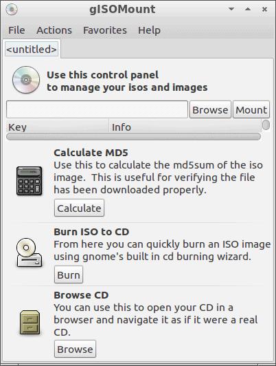gISOMount montar imagen ISO