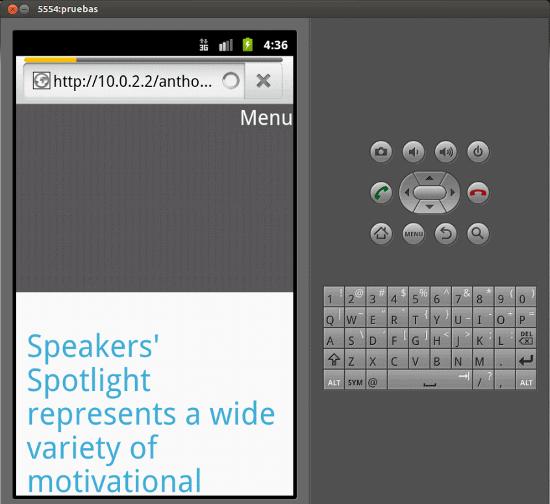 Emulador Android pruebas web