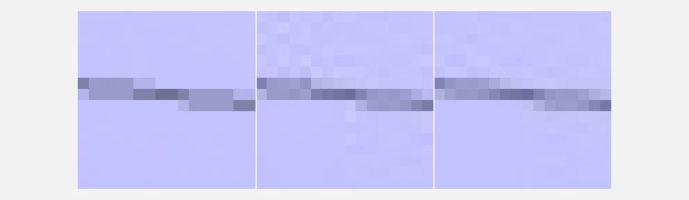 16x16 pixel synthetic example of a phone line