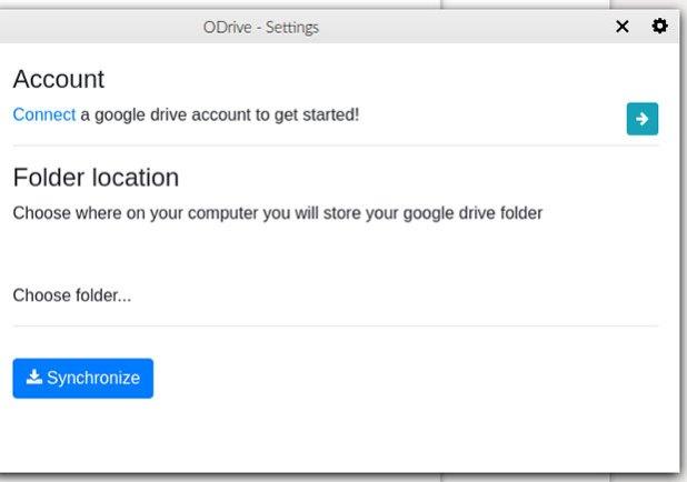 ODrive Settings screenshot