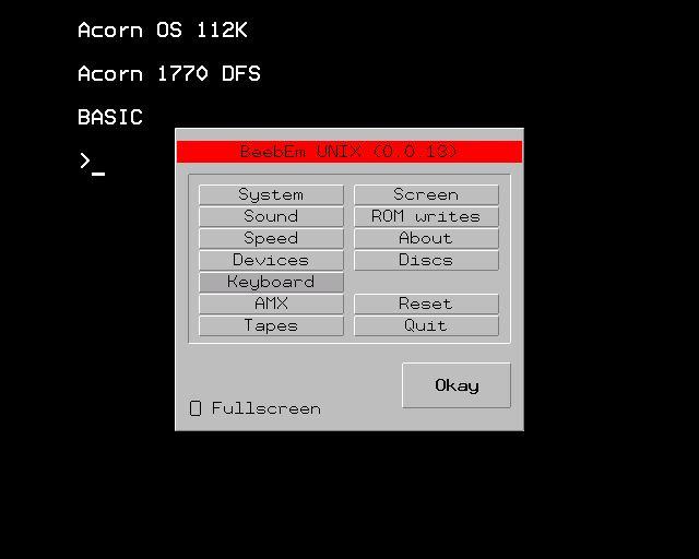 BeebEm - Acorn BBC Micro and Master 128 emulator - LinuxLinks