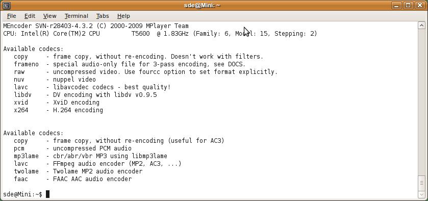 Mencoder - movie encoder software - LinuxLinks