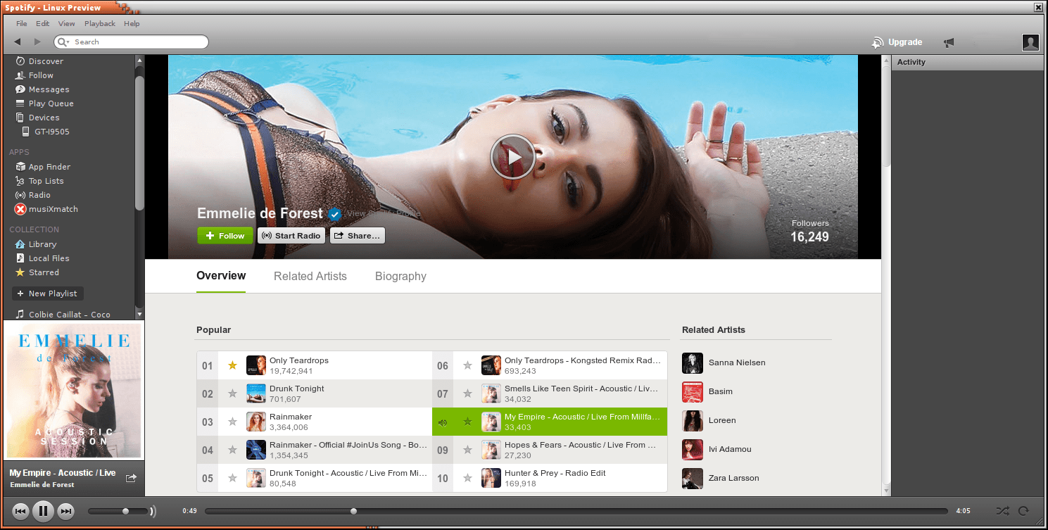 Spotify - music streaming service - LinuxLinks