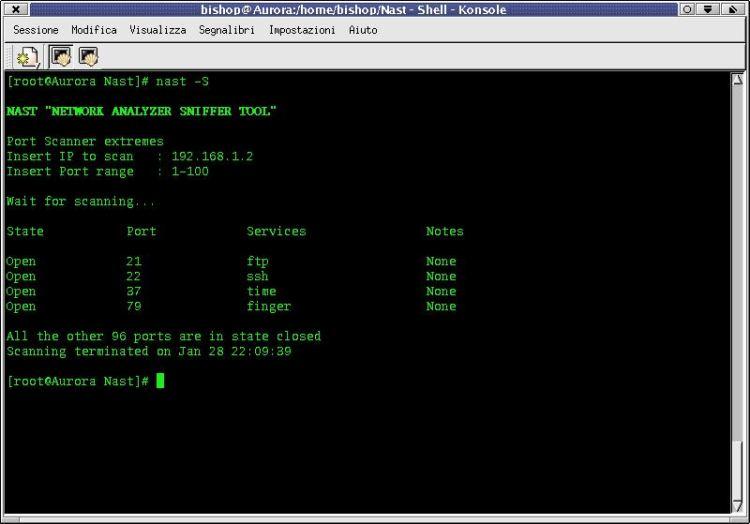 nast - Network Analyzer Sniffer Tool - LinuxLinks