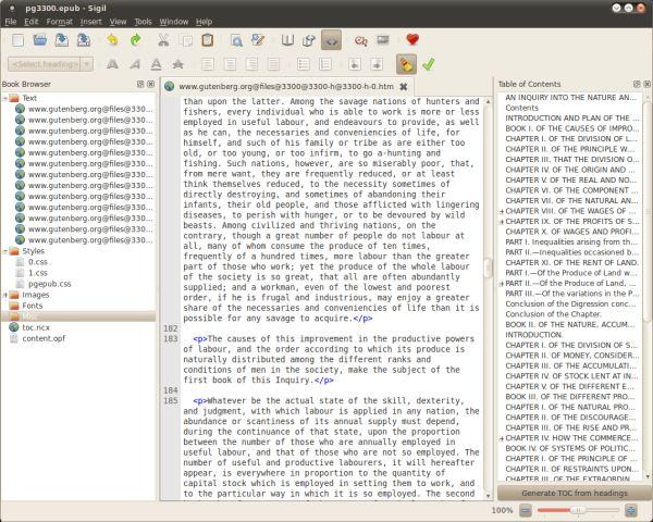 Sigil - Multi-platform EPUB e-book Editor - LinuxLinks