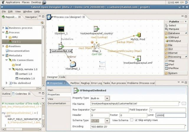 Talend Open Studio Data Integration Based On Eclipse Rcp Linuxlinks