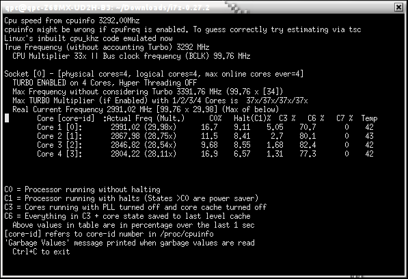 i7z - i7 (and now i3, i5) reporting tool - LinuxLinks