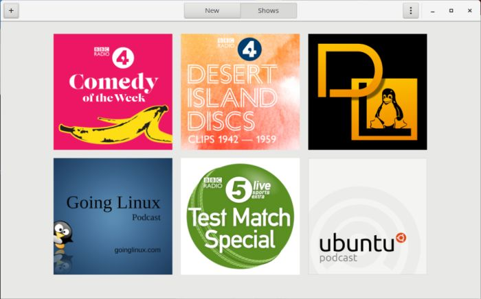 GNOME Podcasts - podcast client for the GNOME desktop - LinuxLinks