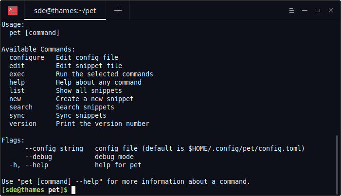 Essential System Tools: pet - command-line snippet manager - LinuxLinks