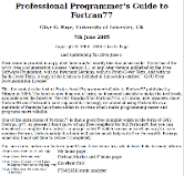 Professional Programmer's Guide to Fortran77