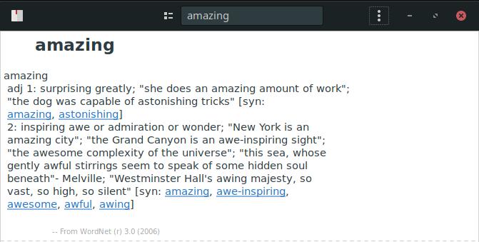 GNOME Dictionary