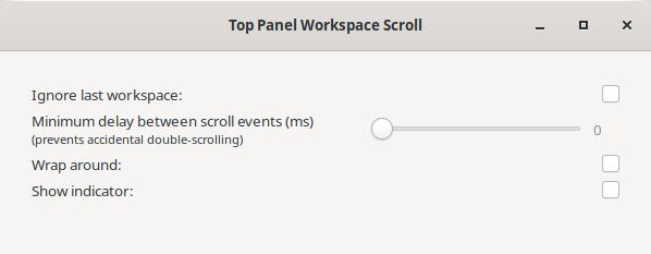 Top Panel Workspace Scroll