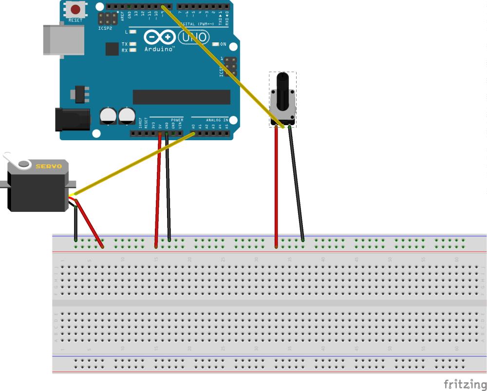 medium resolution of arduino starterkit 5 servo mood indicator connection layout