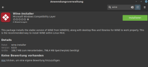 Anwendungsverwaltung Linux MInt
