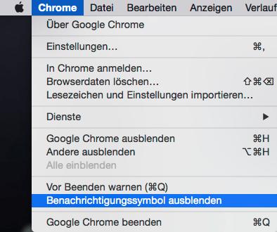 Google Chrome Glocke
