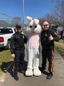 """A special """"Thank You"""" to the Easter Bunny and the Linwood Police Department!!"""