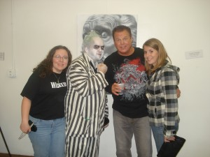 Nicki, me, Jerry Lawler, and friend.