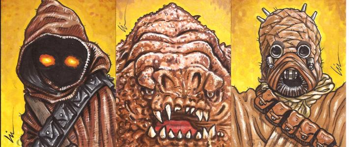 """Star Wars Galactic Files ep6- """"Return Of The Lefty!"""" (More Sketchcards!)"""
