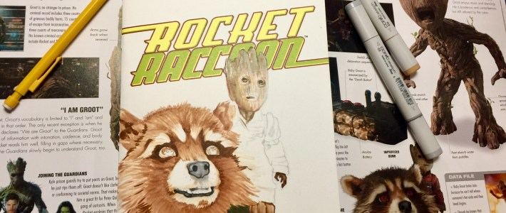 Rocket Raccoon and Groot- My Latest Sketchcover