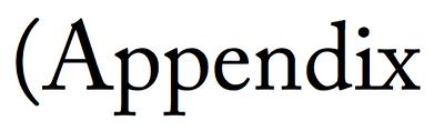 Adobe Caslon Pro cropped apex capital letter A