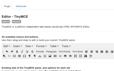 How to fix your TinyMce Editor in Joomla after updating to 3.7 or above