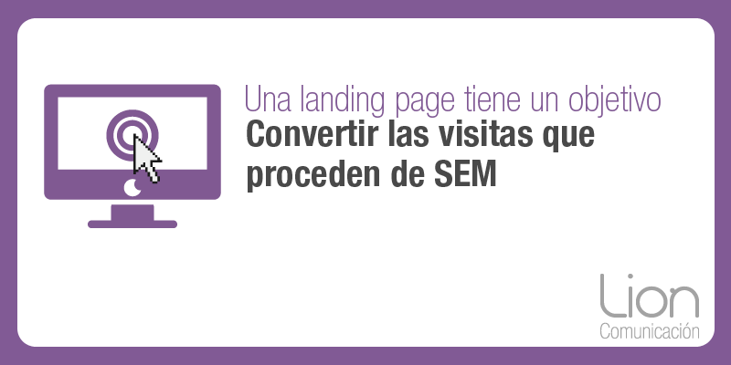 Lion Comunicación: Diseño de landing page en Zaragoza
